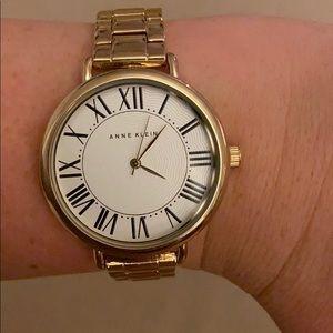 Gold Anne Klein Watch